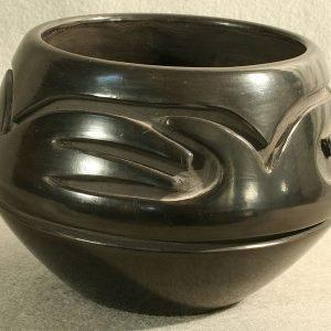 DR 277 Carved Black Ware Bowl