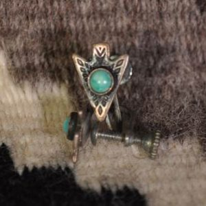 DR 126 Vintage Arrowhead Sterling Silver Earrings