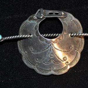 DR 195 Vintage Hand Stamped Ponytail Holder