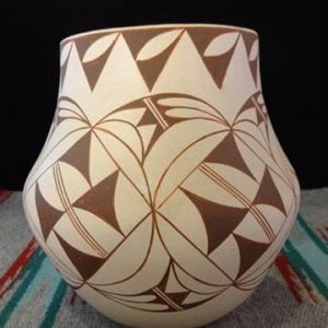 DR 2020 Brown and Cream Geometric Olla