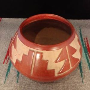 DR 257 Carved Red Ware Bowl