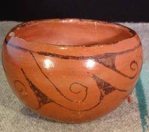 DR 288 Red Swirl Design Bowl