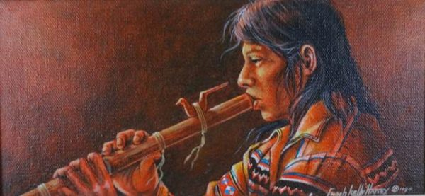 DR 525 Seminole Flute Player