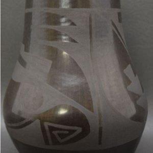 DR 2051 Carmelita Dunlap Geometric Black on Black Jar