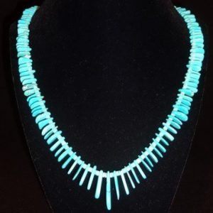 DR 1118 NATURAL Castle Dome Turquoise Tab Necklace