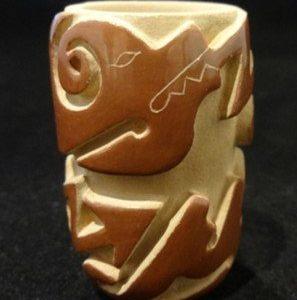 DR 2111  Nancy Youngblood Miniature Carved Vase