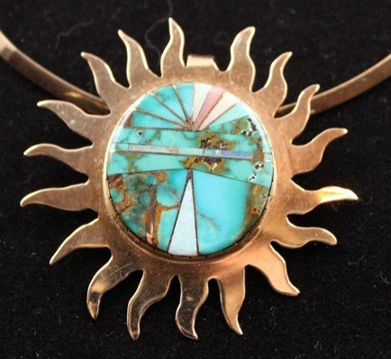 DR 109 Turquoise and Opal Sun Burst