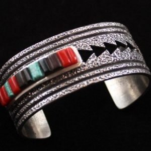 DR 1232 Tufa Cast Inlaid Cuff