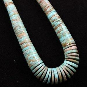 DR 1189 Lester Abeyta Graduated Kingman Turquoise Necklace