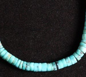 DR 1206 Turquoise Heishi Necklace