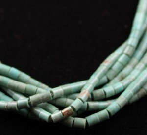 DR 1138 Six StrandTurquoise Heishi Necklace