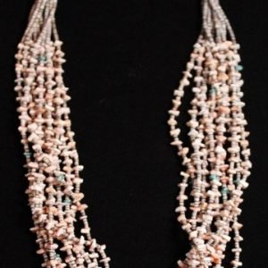 DR 1180  Ten Strand Spondylus and Turquoise Necklace