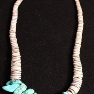 DR 1208 Heishi and Chunk Turquoise Necklace