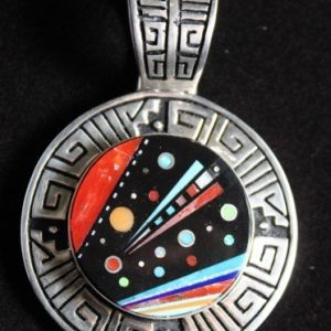 DR 1117 Comet Inlay Pendant