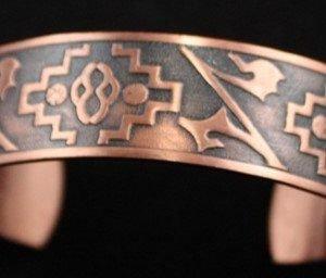 DR 159 Stamped Copper Cuff