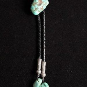 DR 188 Vintage Turquoise Nugget Bolo Tie