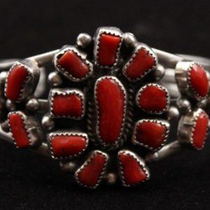 DR 1133 Mediterranean Coral Cuff Bracelet