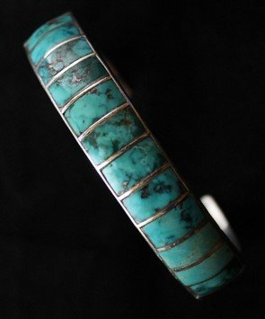 DR 1170 Turquoise Channel Inlay Bracelet