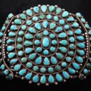 DR 1218 Vintage Zuni Cluster Cuff