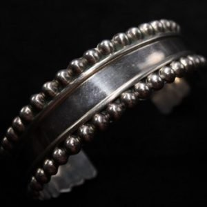 DR 164 Beaded Silver Cuff Bracelet