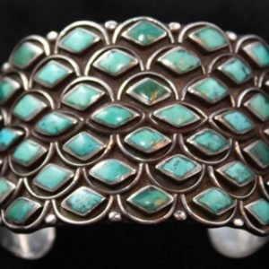 DR 160 Seven Row Turquoise Cuff