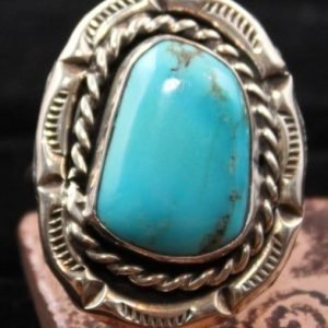 DR 1101 Sterling Silver and Turquoise Ring