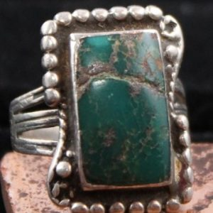 DR 1106 Vintage Green Turquoise Ring