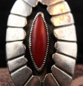 DR 1215 Shadowbox Coral Ring