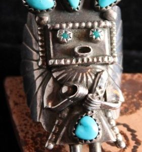 DR 179 Sterling Silver Kachina Ring
