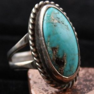 DR 197 Navajo Turquoise Ring