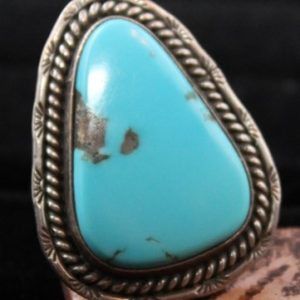 DR 199 Sky Blue Turquoise Cabochon Ring