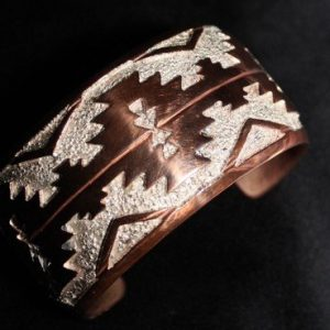 DR 1255 Copper and Sterling Silver Cuff