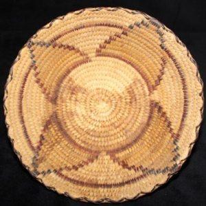 DR 436 Polychrome Four Petal Design Basket