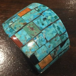 DR 1259 Inlaid Turquoise Cuff