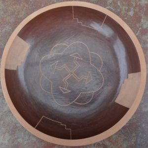 DR 2125 Jordan Roller Brown Sgraffito Bowl