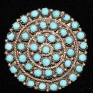 DR 1277 Snake Eye Cluster Pin