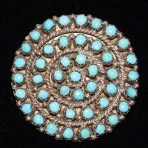 DR 1278 Snake Eye Cluster Pin