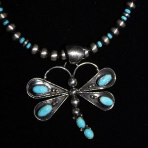 DR 1268 Antiqued Beads with Dragonfly Pendant
