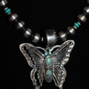 DR 1269 Antiqued Beads with Butterfly Pendant