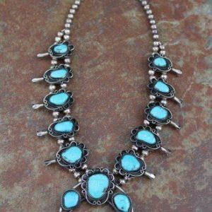 DR 1287 Vintage Squash Blossom Necklace