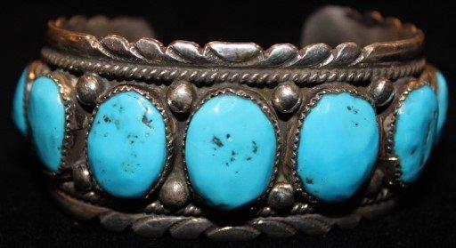 DR 1273 Robert Leekya Turquoise Cuff