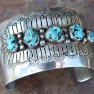 DR 1285 Five Nugget Turquoise Cuff