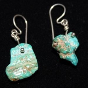 DR 1291 Natural Chunk Turquoise Earrings