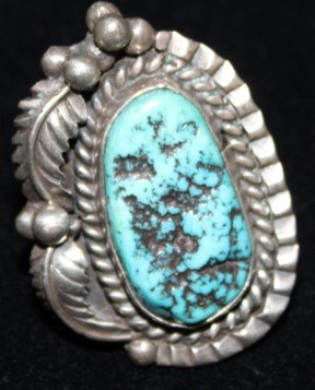 DR 1289 Large Vintage Turquoise Nugget Ring