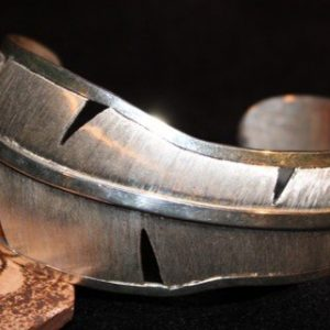DR 1304 Sterling Silver Feather Cuff