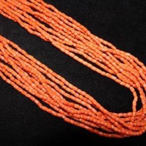 DR 1324 VintageTen Strand Natural Coral Necklace