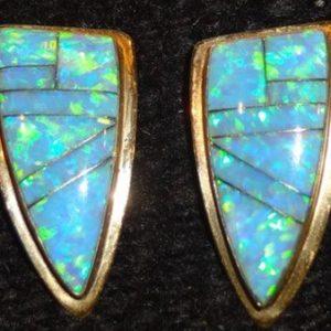 DR 106 Cloud Dancer Fire Opal Earrings