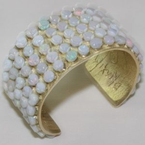DR 1352 Steve LaRance 18k Gold and Opal Cuff