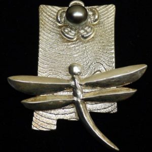 DR 1363 Dragonfly and Tahitian Pearl Pendant